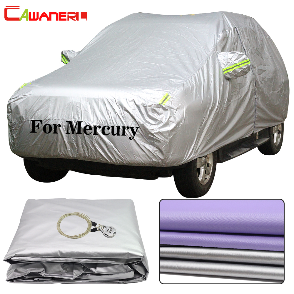 Cawanerl pour traceur de mercure Montego Villager Sable Monterey Mariner Milan bâche de voiture imperméable soleil pluie neige protecteur couverture