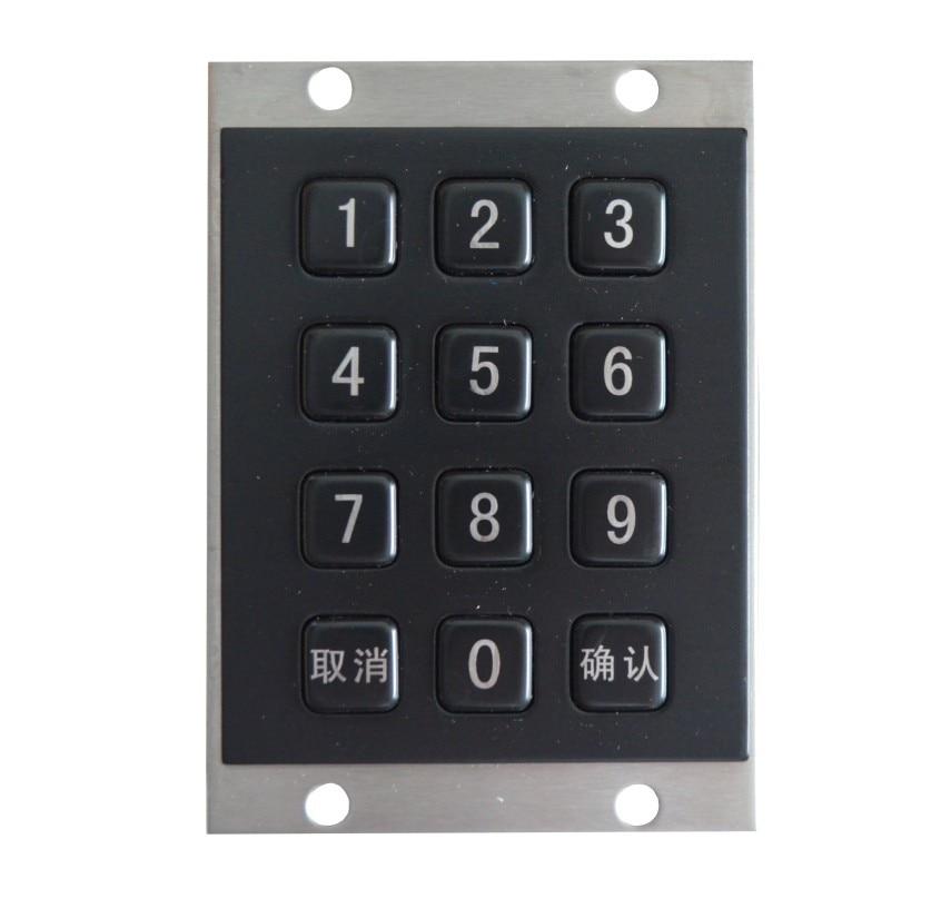 цена на Black Metal Kiosk Keyboards matrix keypads waterproof numeric keypads medical grade keyboards