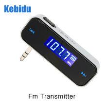 Sem fio 3.5mm música áudio fm transmissor em-carro transmissor carro mp3 transmissor para iphone 4 5 6 s mais samsung ipad fm rádio