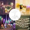 10 LED Клип Свет Шнура RGB Мигает Батарейках для Рождество Светильник Украшения Сада Домой Патио Газон Праздник Стороной