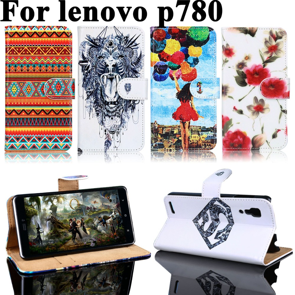 PU Leather Phone Case For Lenovo P780 P s