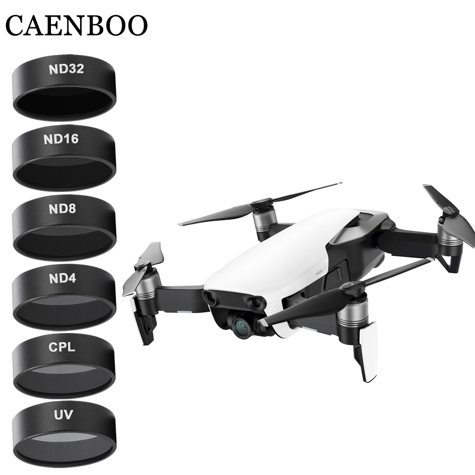 CAENBOO Drone Filters Camera Mavic Air UV CPL ND 4 8 16 32 Neutral Density Set Drones Star Filter For DJI Mavic Air Accessories original dji mavic air nd filters set nd4 8 16 for mavic air camera drone filter 3pcs filter dji mavic air accessories