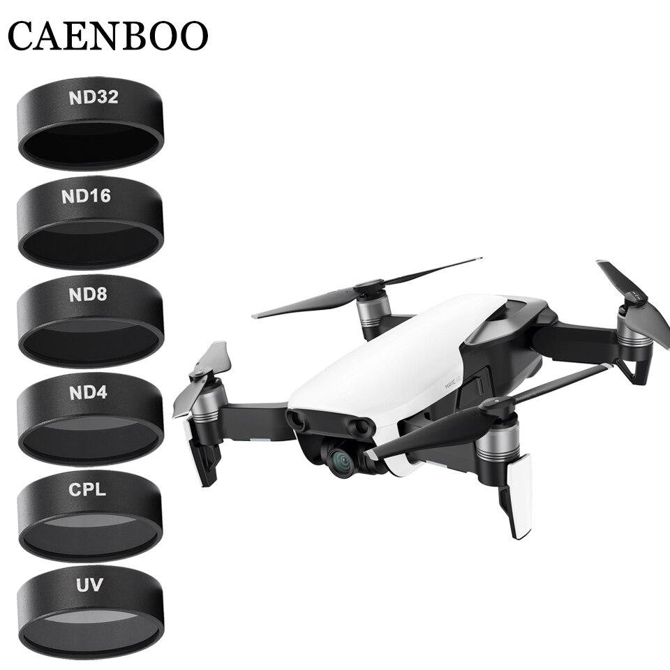 Filtros de Dron CAENBOO Cámara Mavic Air UV CPL ND 4 8 16 32 juego de densidad neutra Drones Filtro de estrella para accesorios de aire DJI Mavic