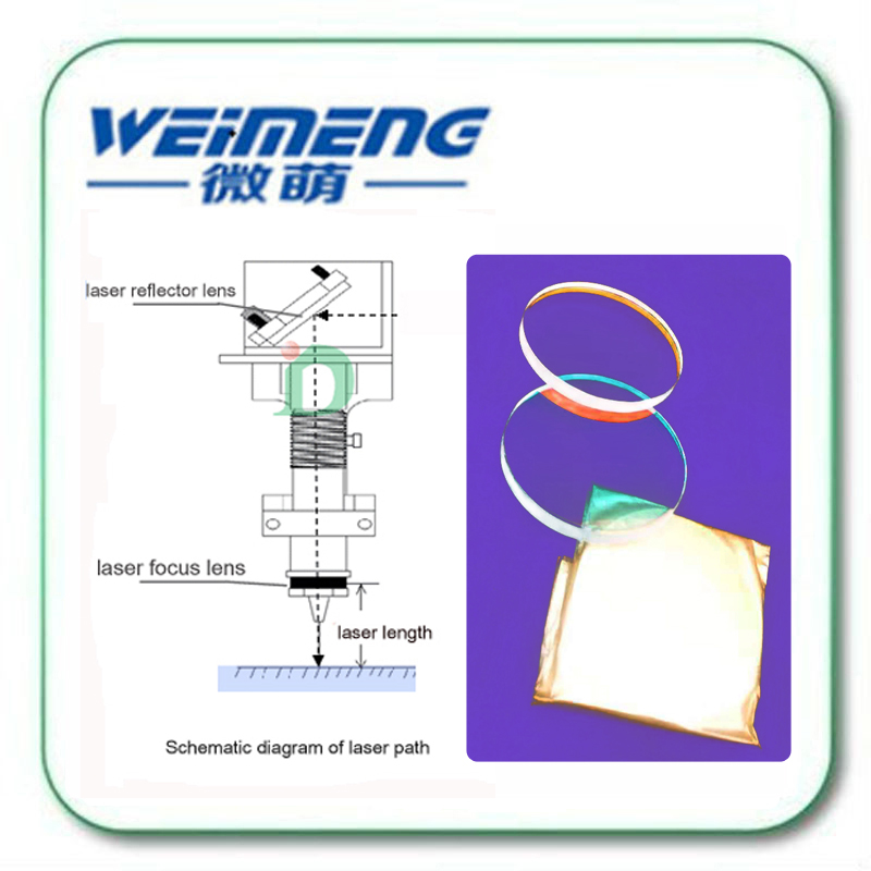 Weimeng marca de alta calidad 45 grados 30*4mm H-K9L material 1064nm HR circular máquina de marcado láser reflector lente óptica - 5