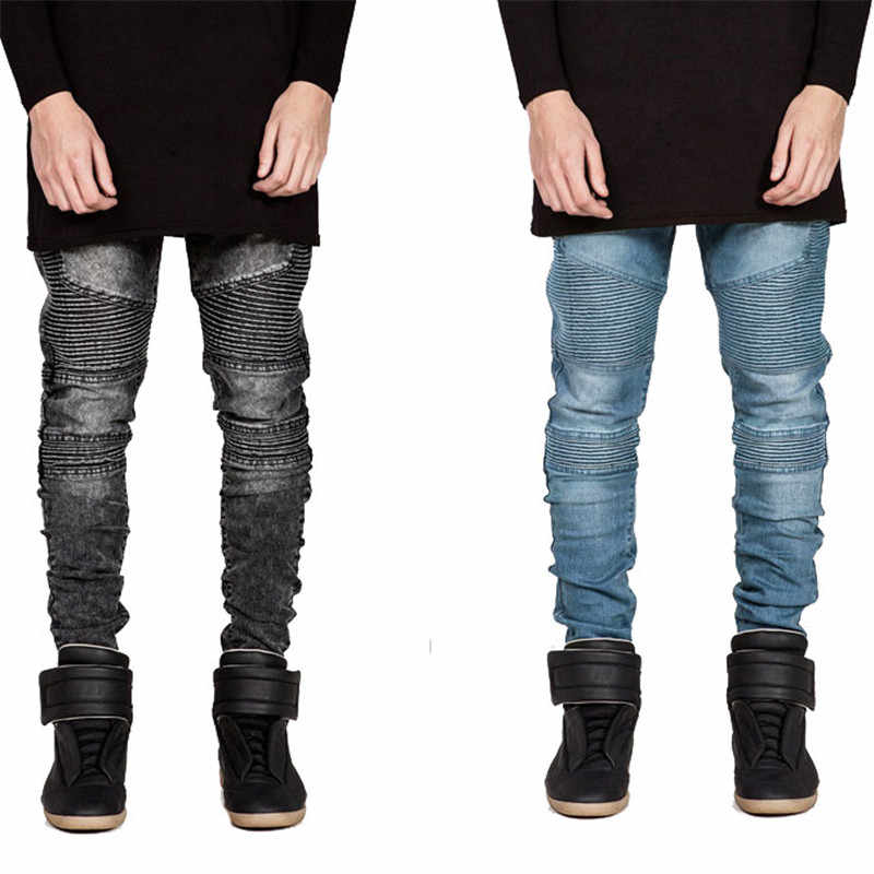 92611259 ... Runway Rider Mens Super Skinny Slim Fit Motorcycle Washed Vintage  Ripped Washed Hip Hop Elastic Denim ...