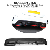 Difusor traseiro de fibra de carbono spoiler para benz a classe w176 a250 a45 esporte amortecedor hatchback 2013-2015 peças de ajuste do carro