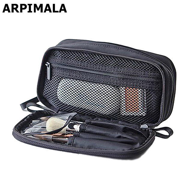 87f320515 2017 bolsas de cosméticos para mujer bolsa de maquillaje de viaje bolsa de  almacenamiento profesional cepillo