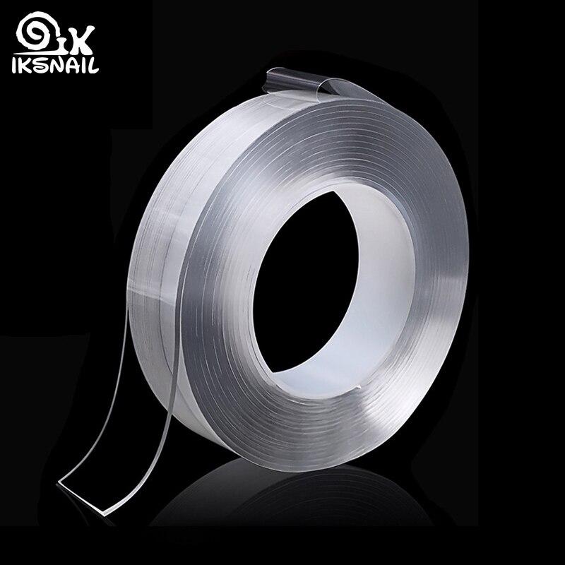 IKSNAIL, cinta mágica de Gel de sílice Nano de doble cara, adhesivo lavable para coche y hogar, adhesivo fijo multifunción, alfombrilla antideslizante