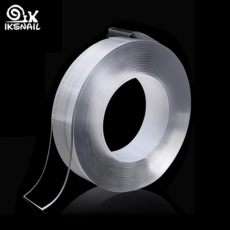 Ikescargot Double face Nano Gel de silice ruban magique sans trace lavable adhésif voiture & maison multifonction fixe adhésif tapis anti-dérapant