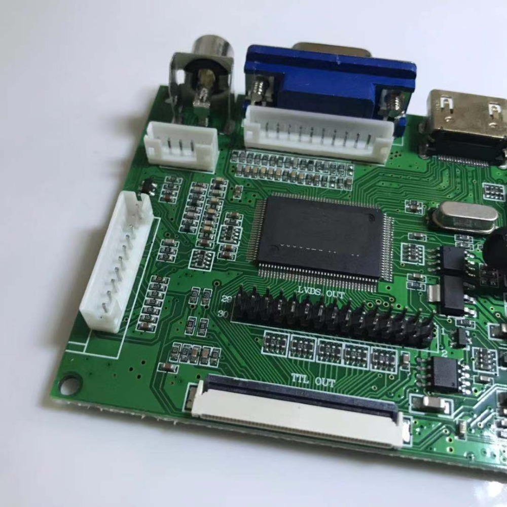 <font><b>LCD</b></font> Display TTL LVDS Controller Board HDMI VGA 2AV <font><b>50</b></font> <font><b>PIN</b></font> for AT070TN90 Support Automatically VS-TY2662-V1 Driver Board image