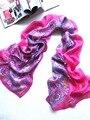 [ Шелковый Jarcquard шарф ] 50 см * 170 см вышивка длинный шарф / 100% натуральный шелк / цветок Scarves / 2014 новая осень и зима Desigual / фиолетовый
