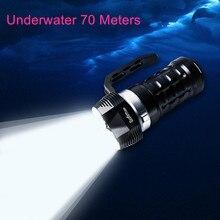 חדש Sofirn SD01 גבוהה עוצמה Zoomable LED פנס 18650 SST 40 3000LM Lanterna טקטי צבאי כף יד צלילה