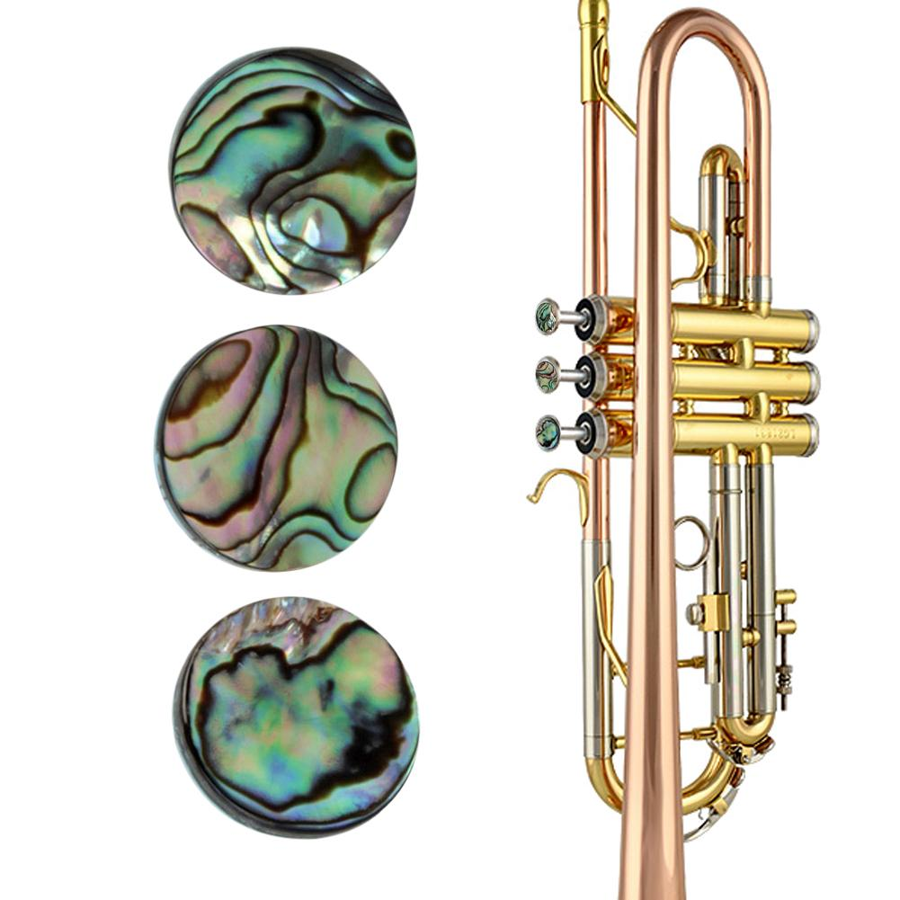 Trumpet Valve Finger Buttons Trumpet Inlays Colorful Abalone Shell Trumpet Parts Accessories Beautiful And Elegant Hard Material