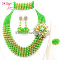 Nigerian Wedding African Beads Rushed Classic Women Crystal Jewelry Sets New Arrived Nigeria Set Necklace Africa Beads E1047