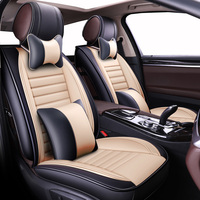 New Luxury Universal Leather car seat cover for Benz A B C CLA GLA D E ML SL SLK R S600 series Vito Viano Sprinter Maybach