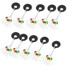 10 Pieces Fishing Tackle Multicolor Plastic Floater Bobber Stopper