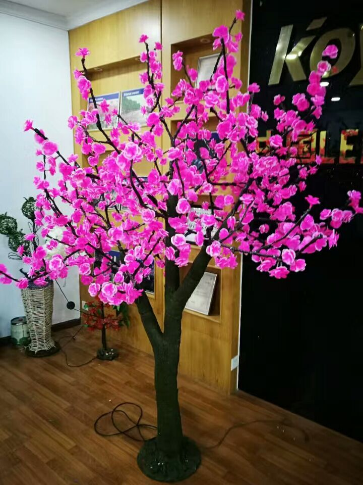 2.3m /7.6ft Height 1152 Leds Red /Pink LED Cherry Blossom Tree simulation light Wedding Garden patio Holiday Christmas Light NEW недорого