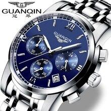Muhsein violin watch steel strip mens watch luminous waterproof watch multifunctional chronograph quartz watch shopping
