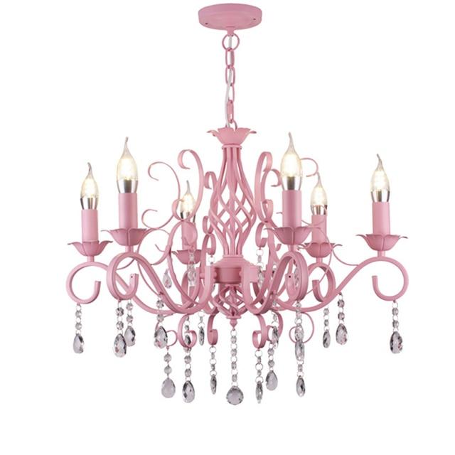 Kristall Kerze Licht Prinzessin Zimmer Rosa Mädchen Romantische Ehe Zimmer  Beleuchtung Garten Esszimmer Schlafzimmer Kronleuchter Lampen