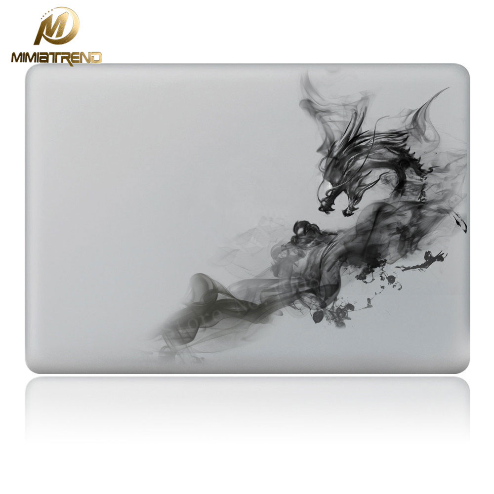 Mimiatrend Cool Smoke Dragon Vinyl Decal Partial Art Laptop Stickers Skin for MacBook Air Pro Retina