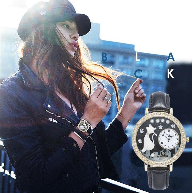 Prix pour Miss Keke 2017 Argile Mignon 3d Mini Monde enfants Chat Montres Horloge Femmes enfants Montre Dames Quartz Montres dropshipping