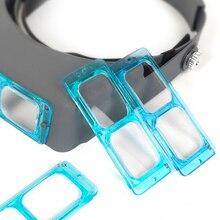 Оптический козырек, увеличительная лупа, лупа для глаз, часовщик, ремонт, шлем третьей руки, увеличительные очки, лупа для ремонта часов