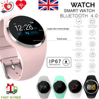 UK Women's Lady Bluetooth Smart Watch Phone Mate For Android IOS iPhone Samsung pedometer activity monitor smart watch
