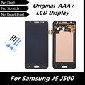 100% de la alta calidad LCD Original para Samsung Galaxy J5 J500 pantalla LCD pantalla táctil digitalizador de montaje negro repuesto piezas