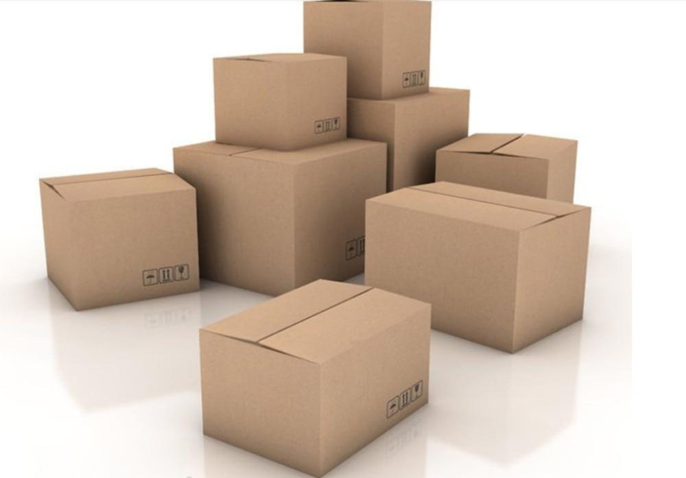 20pcs/lot Wholesale 5 Sizes Corrugated Packing Box Transport Box Kraft Paper Mailing Box Express Transportation Carton Box
