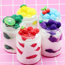 Slime Toys Ice Cream Fruit Cute Polymer Clay Modeling Lizun Glue Mud Putty DIY Toy Antistress