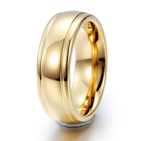 High Quality Gold Color Tungsten Wedding Rings Tungsten Carbide Wedding Ring Alliance Jewelry