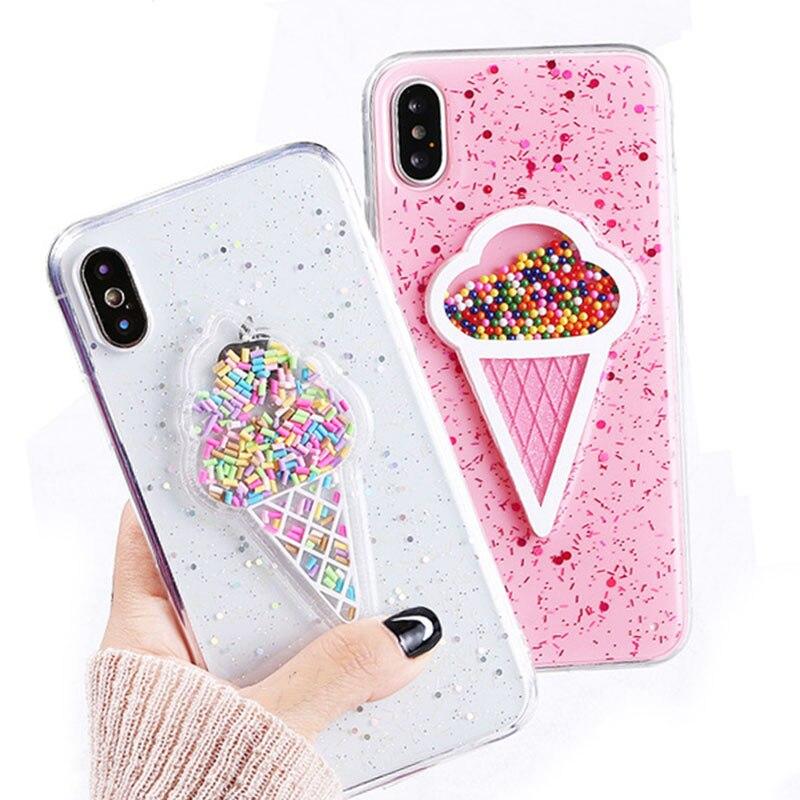 GEBREK-3D-Dynamische-Ijs-Telefoon-Case-Voor-iphone-X-Case-mode-Glitter-Bling-Cover-Mooie-Cartoon