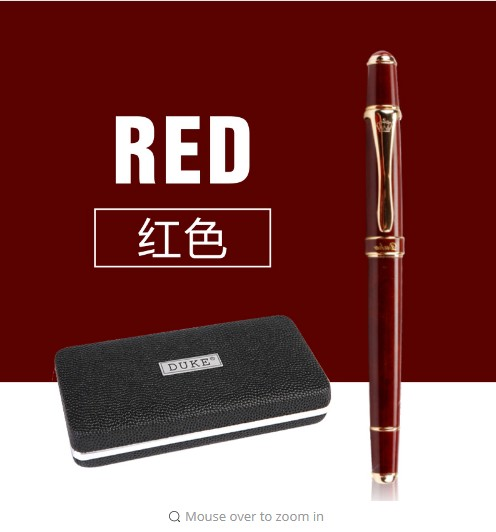 School Office Stationery Supplies Duke Luxury Wine Red and Gold Clip Rollerball Pen 0.7mm Metal Ballpoint Pens for Gift wholesale free shipping picasso 916 ballpoint pens luxury sign pen gift for lady office and school stationery