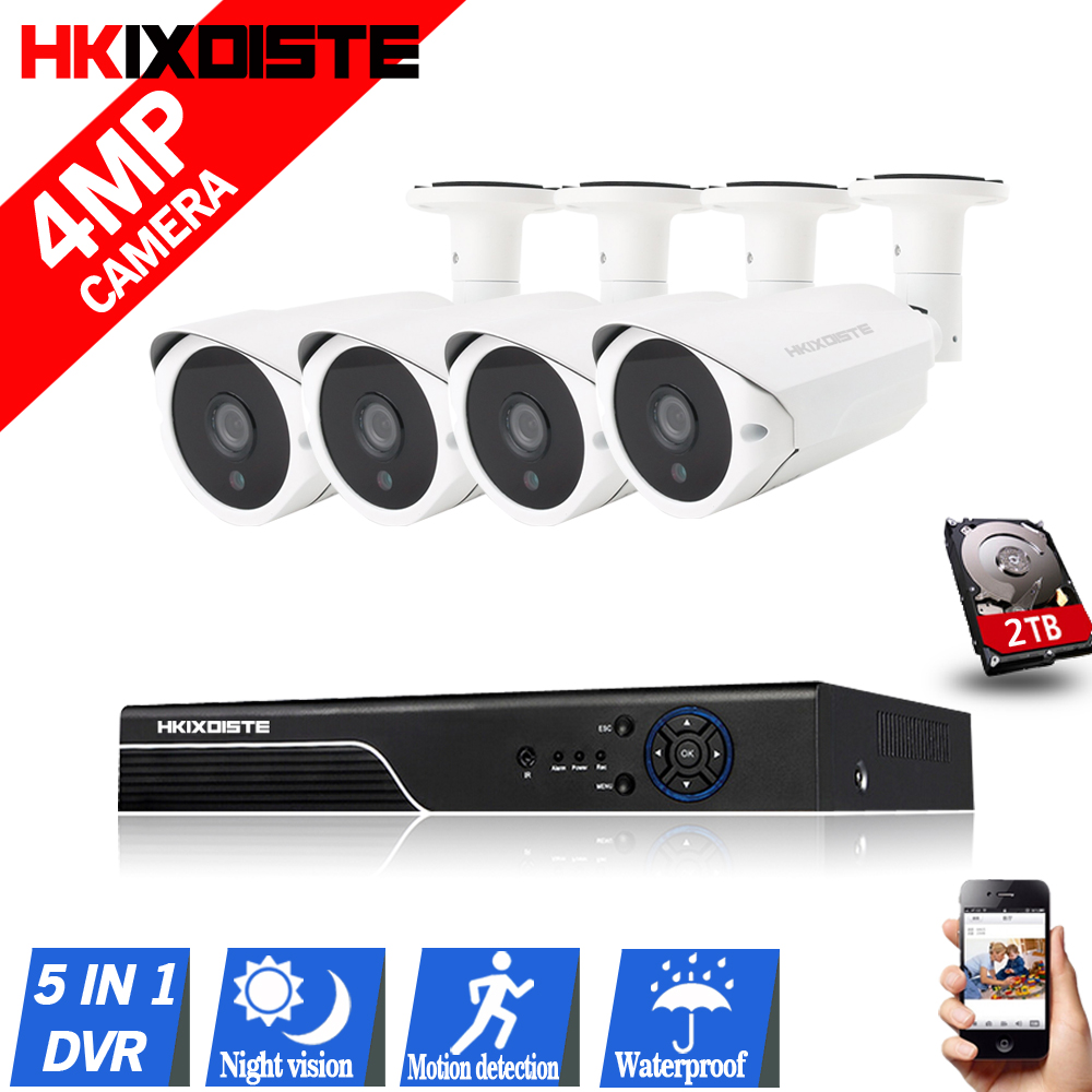 4MP CCTV Security Camera System CCTV Camera System 4CH AHD DVR 4 4 0MP Security Camera
