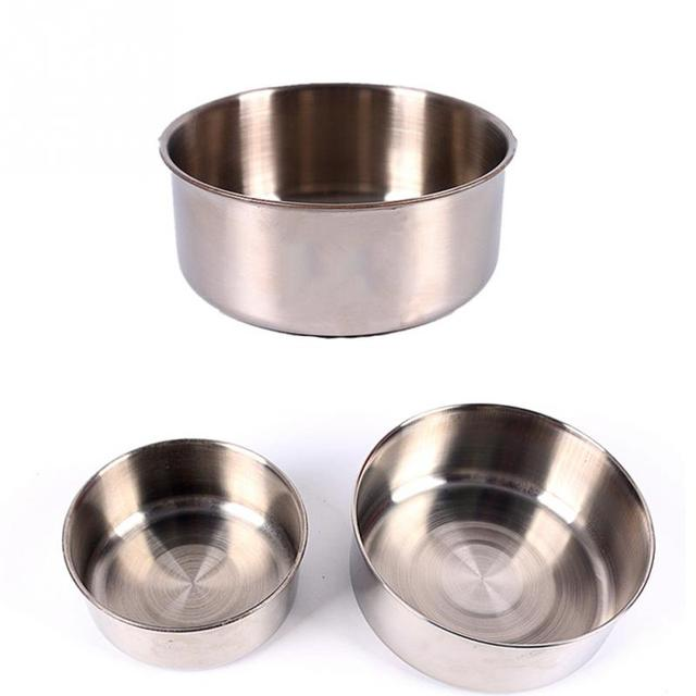 Classic Stainless Steel Hanging Pet Bowl