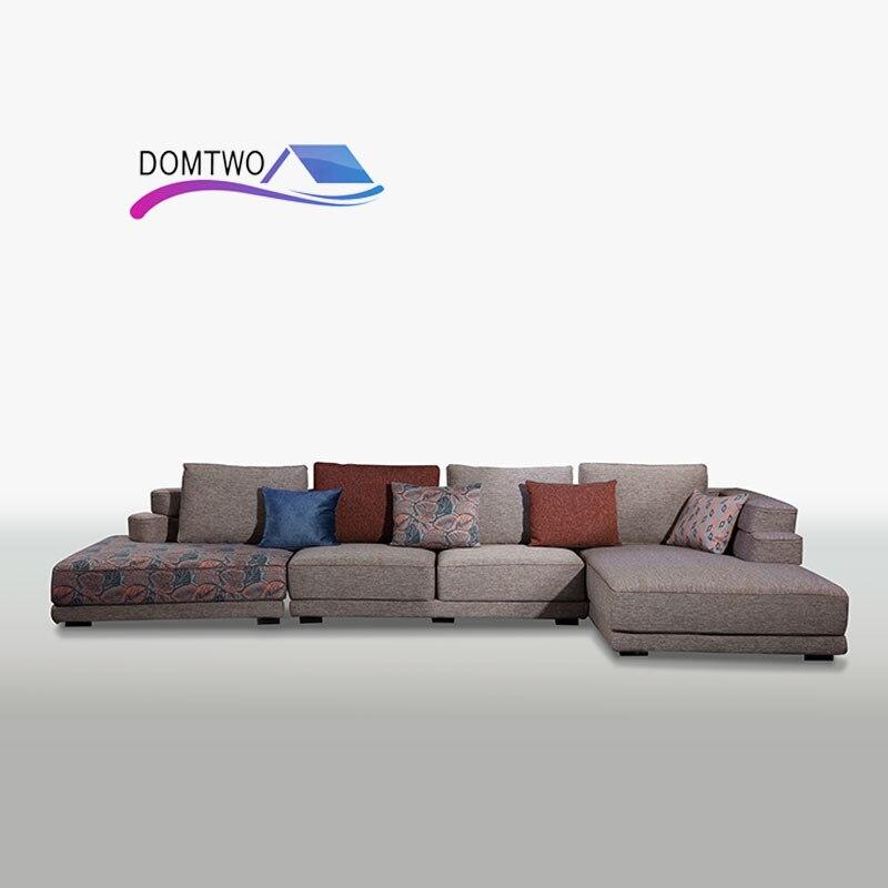 Furniture Living Room Down Corner Custom Made Modern European Style Sofa