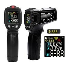 ללא מגע אינפרא אדום דיגיטלי מדחום 50 600 מעלות נייד לייזר Pyrometer מדדי לחות LCD רכב תעשיית טמפרטורת מטר