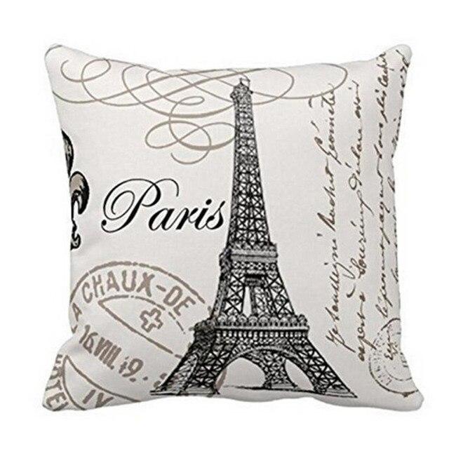 2017 di Vendita Caldo 45*45 cm Retro Vintage Franch Parigi Torre Eiffel Copertur