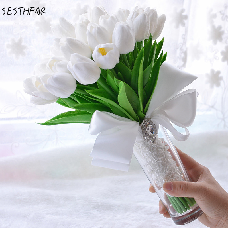Buy Tulips Wedding Bouquet And Get Free Shipping On Aliexpress