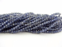 Grade AAA Brilliant Cut Shining Natural AA Iolite Gems Stones 2mm Faceted Round Beads 15″ Jewelry Making 2 Strands/Pack