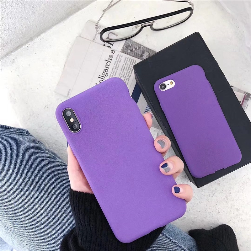 Luxury purple matte Soft Tpu Phone Case for Vivo Y35 Y37 Y51 Y53 Y55 Y66 Y67 Y79 Y75 Y85 Y71 Y97 X6 X7 X9 X9S Plus V3 Max Capa in Fitted Cases from Cellphones Telecommunications