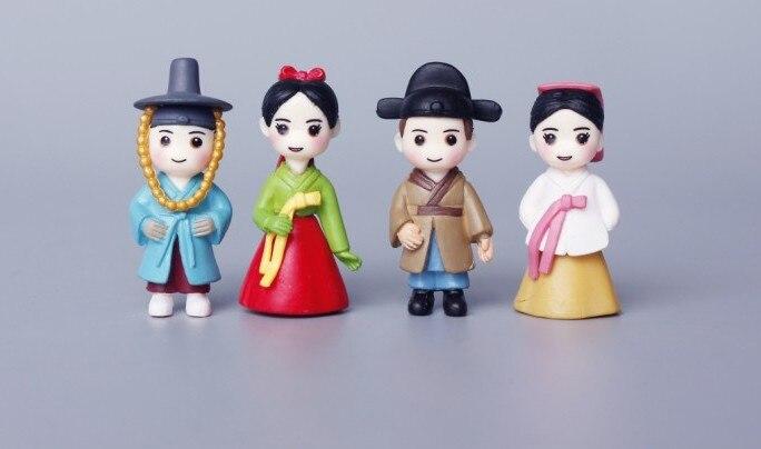 Pvc cm antica coreano abbigliamento q versione del cartone