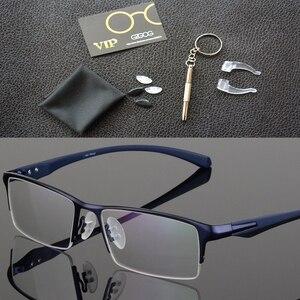 Image 4 - Оправа для очков из чистого титана, мужская оправа для очков, оправа для очков, большие простые дизайнерские оправы