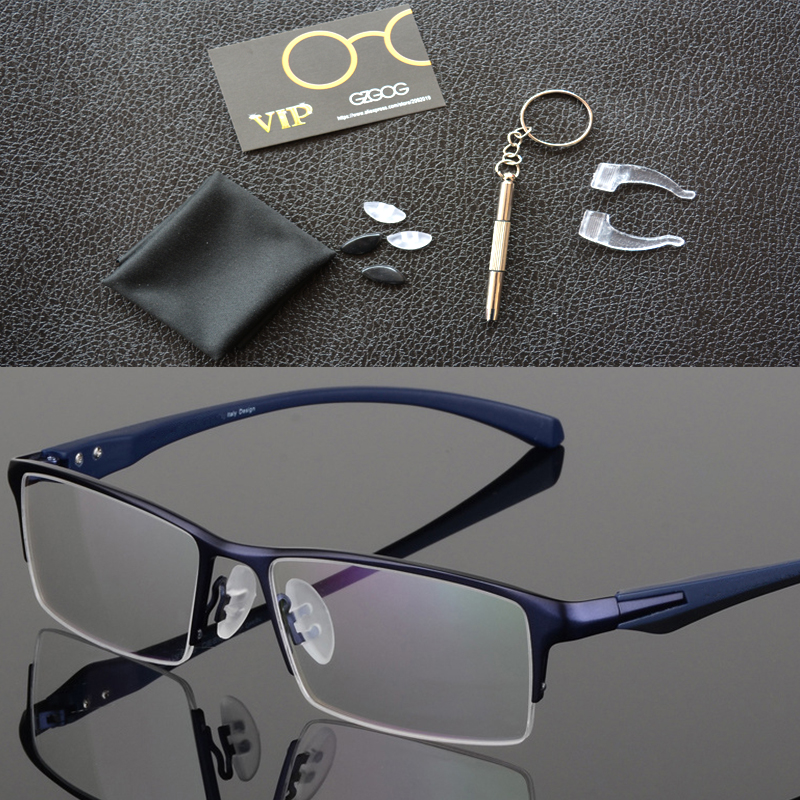 Image 4 - Pure titanium glasses frame full eyeglasses frame men optical glasses eyeware spectacle frames designs large plain-in Men's Eyewear Frames from Apparel Accessories