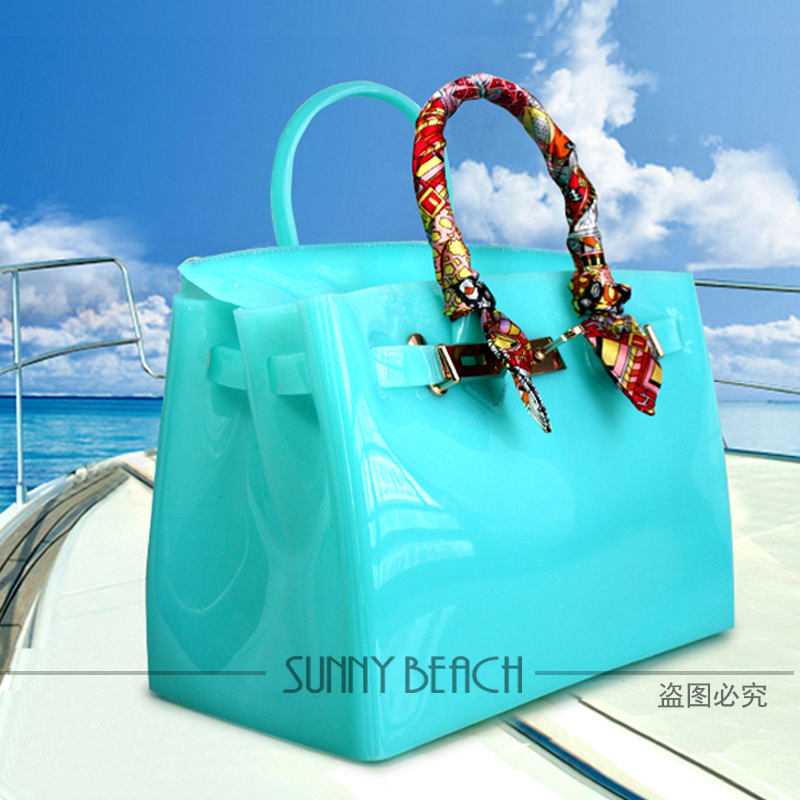 cc38917299 SUNNY BEACH Brand Fashion Female handbags Jelly bags PVC waterproof beach  bag tote luxury women bag-in Top-Handle Bags from Luggage   Bags on  Aliexpress.com ...