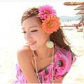 1 UNIDS nueva moda Tela Blooming Flor mujer Broche wedding party sun flower Pinza de Pelo Adornos Para El Cabello Accesorios de La Flor