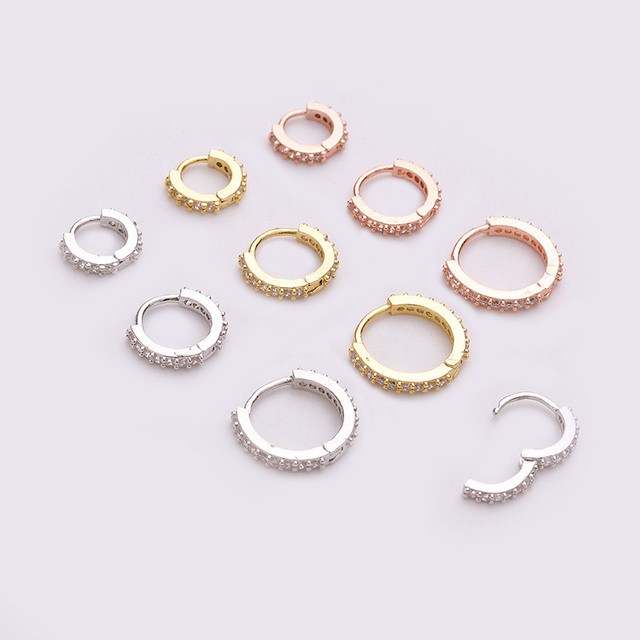 1Pc 6mm to 10mm Cz Cartilage Huggie Hoop Earring Small Hoops Helix Tragus Rook Daith Snug.jpg 640x640 - 1Pc 6mm to 10mm Cz Cartilage Huggie Hoop Earring Small Hoops Helix Tragus Rook Daith Snug Piercing Jewelry
