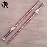 Brand new Bamboo joint wooden whips rosewood double mace traditional Martial arts weapons Dragon head mahogany hard whips