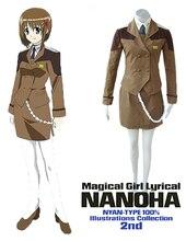 Envío Libre Magical Girl Lyrical Nanoha Mobile Seis Uniforme de Cosplay del Anime