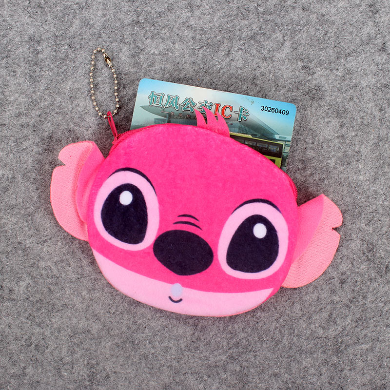 Cartoon 3D Stitch 11CM Plush Lady 39 s Coin Purse amp Wallet Pouch Case Bag Pendant Makeup Storage BAG Holder Pouch Handbag in Coin Purses from Luggage amp Bags